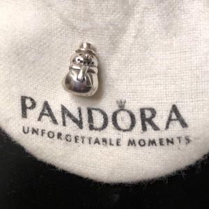 Authentic Pandora snowman charm